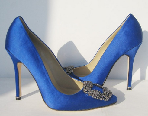 60e06112d3d8 Daily distraction - Manolo Blahnik Something Blue shoes - The London ...