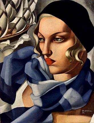Tamara de Lempicka - Page 2 Tamara-de-lempicka-l-echarpe-bleu-1930