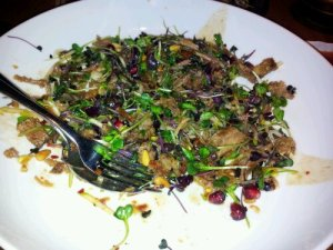 Warm duck salad