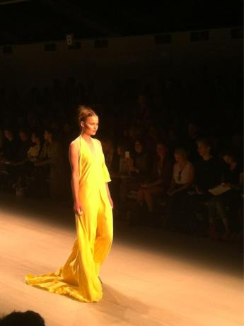 Yellow dress Maria Grachvogel London Fashion Week