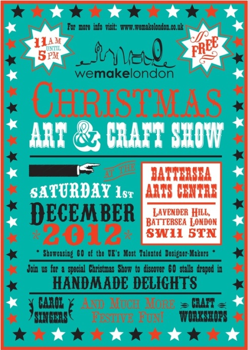 Christmas Fair at Battersea Arts Centre Sat 1st December 11am - 5pm