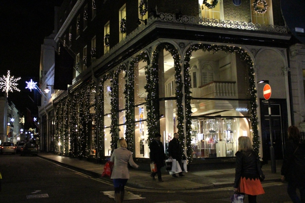 Asprey jewellers christmas lights - new bond street