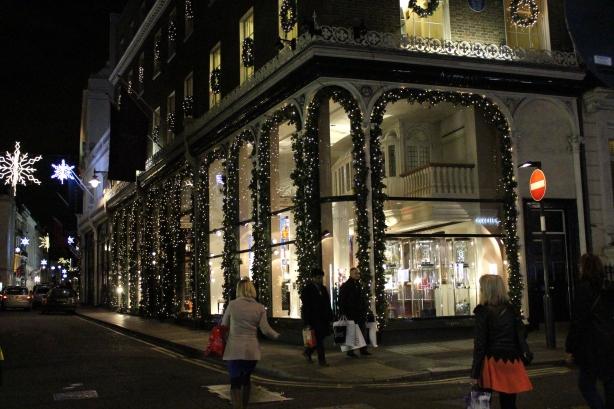 Asprey jewellers christmas lights - new bond street