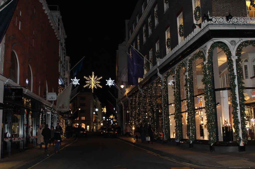 Old bond street Christmas Lights