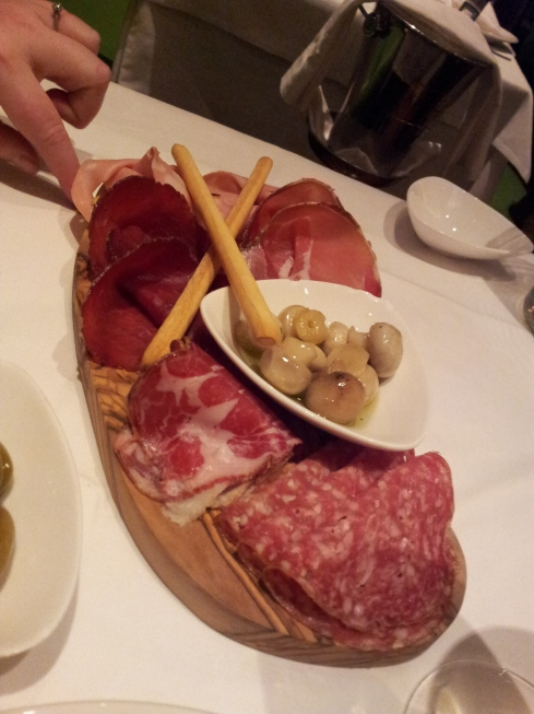 Selection of cured meats from their Cicchetti