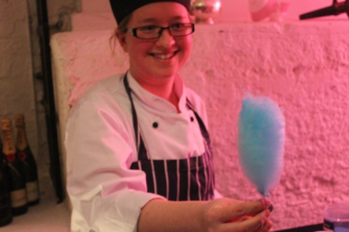 Candy floss made by hotel's pastry chef