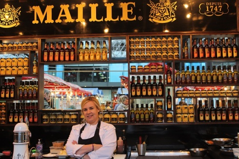 Michelin chef Helene Darroze at the Maille Boutique pop up