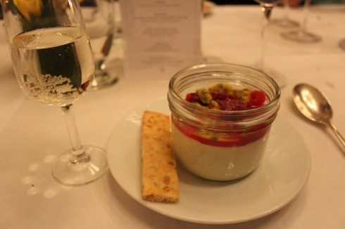 Pannacotta and riesling