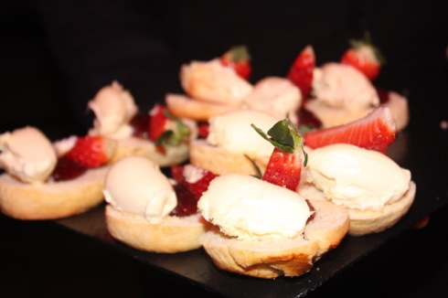 Freshly baked scones, Cornish clotted cream and homemade strawberry preserve