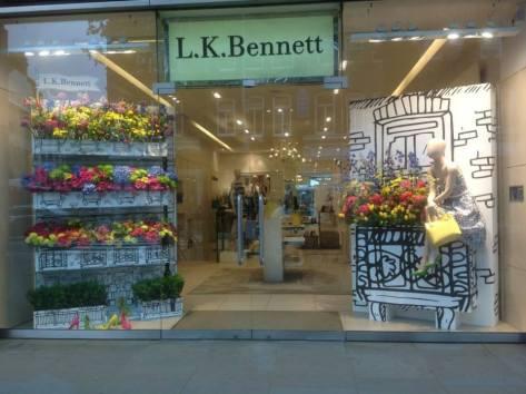 Winning Chelsea in bloom display from Lk Bennett