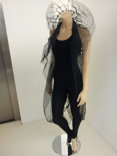 Zaha Hadid  Frozen Aura  flowing mesh dress