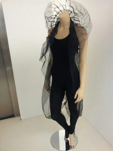Zaha Hadid  Frozen Aura  flowing mesh dress
