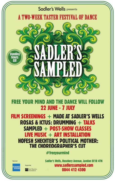 Sadler's Sampled festival poster