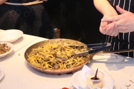 Some delicious pasta from Michelin star restaruant Lanima