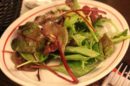 Mashsteak-salad
