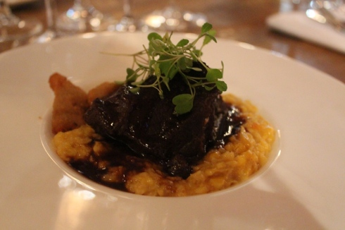 Braised beef cheeks with lamb sweetbread