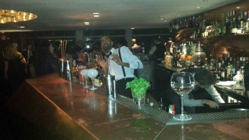 Barman at The Paramount bar